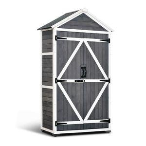 MCombo Gartenschrank Geräteschuppen Werkzeugschrank Outdoor-Schrank Holz 1000EY
