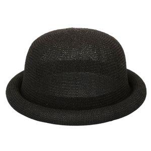 Damen Herren Fedora-Hut Sonnenhut Partyhut Urlaubshut Sommer Kopfbedeckung zum Wandern Camping Reisen Angeln Farbe Schwarz