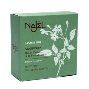 Najel Aleppo Olivenöl Seife mit biologischem Jasminöl im 2 er Pack je 100 g