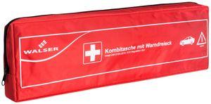Walser KFZ Verbandstasche Kombi 2 gemäss DIN 13164, 44 x 13 x 6 cm rot, 44265
