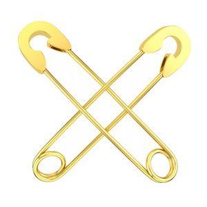 Safety Pin Ohrringe Ohrhänger Ohrschmuck Ohrstecker Punk Sicherheitsnadel Golden 37,8 x 0,8 mm
