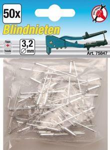 KRAFTMANN 75847 Blindnieten 3,2 mm, 50 Stück