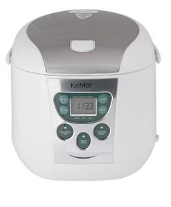 KeMar Kitchenware KRC-140 Digitaler Reiskocher | Multikocher | Dampfgarer mit Warmhaltefunktion | 6 Programme | Timer | Innentopf mit Titan-Keramik Antihaftbeschichtung | BPA-frei