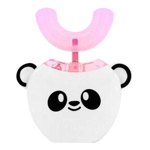 Kinder elektrische Zahnbuerste U-Form 360 Grad Mundreiniger mit automatischem Smart Timer Kaltlichtaufhellung fuer 3-7-Jaehrige