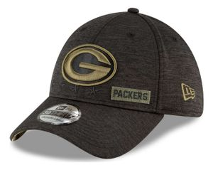 New Era - NFL Green Bay Packers 2020 Salute to Service 39Thirty Stretch Cap - Grau : Grau L-XL