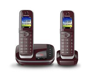 Panasonic KX-TGJ322GR Strahlungsarmes Schnurlostelefon mit Anrufbeantworter, Farbdisplay, Rufnummernanzeige, 18h Sprechzeit, 12 Tage Standby, Freisprechfunktion, Babyfon-Funktion, DECT