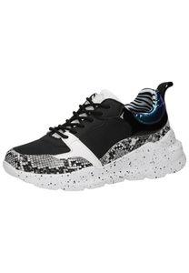 Bullboxer Damen Sneaker black/white, Damen:38 EU
