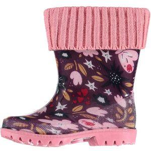 XQ Footwear regenstiefel Junior Gummi/EVA rosa/violett