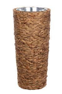 Geflecht-Pflanzsäule SDH17145E Naturfaser Pflanzkübel Blumenkübel Blumentopf, Größe:Größe L 41cm H x 22cm B
