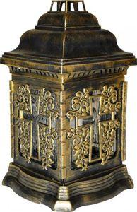 Grablampe Grablaterne Grableuchte Grablicht mit Kreuz Grabschmuck Grabkerze Kerze