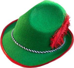 Partychimp hut Oktoberfest Männer Filz grün/rot Einheitsgröße