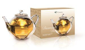 Creano Glas Teekanne DiamondDesign 800 ml Borosilikatglas