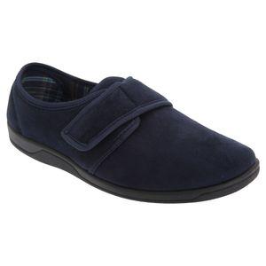 Sleepers Herren Tom Hausschuhe / Pantoffeln mit Klettverschluss, WildKunstleder DF845 (42 EU) (Marineblau)