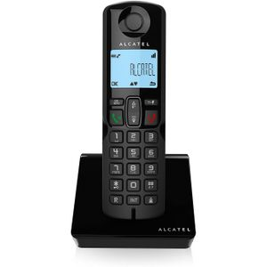Alcatel S250, schwarz, Festnetztelefon, Großtastentelefon, Freisprechfunktion