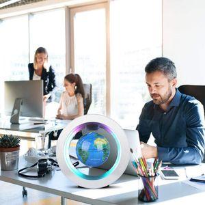 "Magnetische Levitation Globe,   Circular Frame Schwimmende Rotating Levitating Globe ""O"" Form Anti-Gravity Bunte LED Weltkarte"