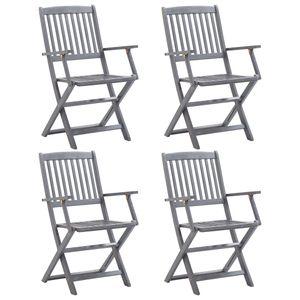 4er Set Klappbare Gartenstühle, Balkonstuhl,Terrassenstuhl,Campingstuhl Massivholz Akazie