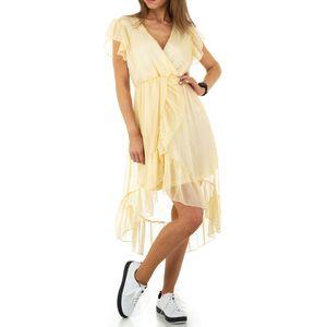 Ital-Design Damen Kleider Cocktail- & Partykleider Gelb Gr.m