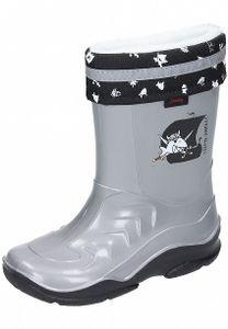 Capt'n Sharky Kinder Gummistiefel gefüttert Schuhe grau