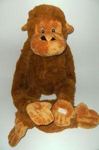 Plüschtier Affe Hängeaffe Mega, 145 cm, braun, Affen Hängeaffen Kuscheltiere Stofftiere Klettband