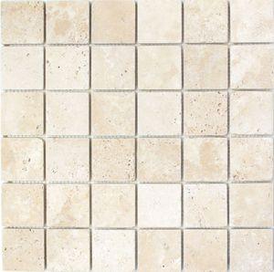Mosaik Fliese Travertin Naturstein beige Chiaro Antique Travertin MOS43-46048_f