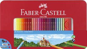 FABER-CASTELL Hexagonal-Buntstifte CASTLE 60er Metalletui