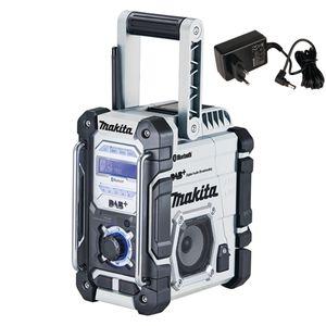 Makita Akku-Baustellenradio 7,2V - 18V in weiß mit DAB+ und Bluetooth