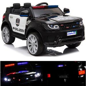 👮🏻 POLIZEI Kinderauto Polizeiauto mit Funkgerät Sirene und Martinshorn Bluetooth Kinderfahrzeug Kinder Elektroauto Gefedert Hilfsrollen
