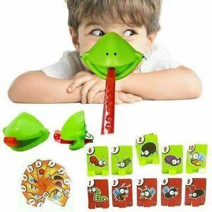 4 Stück/set Tic Tac Tongue Chamäleon Maske Bug Catch Quickdraw Spiel Frosch Mundmaske Interaktives spielzeug für Kinder