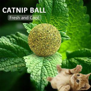 5 STÜCKE Katzenminze Ball Spielzeug Katze Mint Ball Natürliche Katzenminze Zahnreinigung Spielen Kauen Klaue Spielzeug Heimtierbedarf[Dunkelgrün]