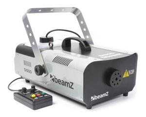 Beamz S1500 Power Nebelmaschine Nebel Effektmaschine (1500W, DMX, Kabelfernbedienung 5m, für 2 Liter Nebelfluid, Nebel-Ausstoß mit 295m³/min) silber