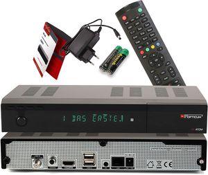 CYE AX Atom 4K UHD digitaler Satellitenreceiver mit PVR Aufnahmefunktion - alphanumerisches Display / HDMI / 2X USB 2.0 / RJ45 LAN-Ethernet Port / Coaxial Audio Out / 12V Netzteil, schwarz