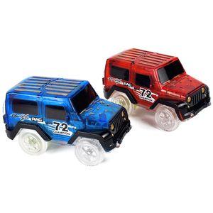 LED-Blinklicht Magic Track Elektro-Rennwagen Modell Spass Kinderspielzeug Geschenk