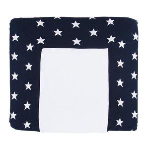 Baby's Only Wickelauflagenbezug Star - Marine/Weiß - 75x85 cm