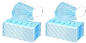 100x Einmal-Mundschutz 3 lagig Mundschutzmaske Atemschutz Mund- Nasenbedeckung