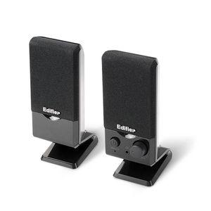 Edifier M1250, 2.0 Kanäle, Verkabelt, USB/3,5mm, 1,2 W, 150 - 20000 Hz, Schwarz