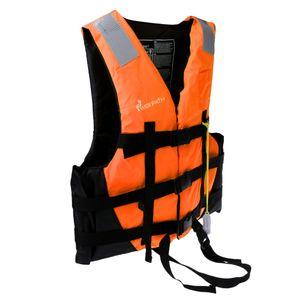 Schwimmweste Kajak Kanu Boot Schwimmen Angeln Weste Schwimmhilfe Hilfe orange Orange Größe M Farbe Orange