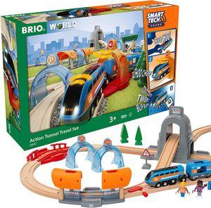 BRIO 63397200 Smart Tech Sound Action Tunnel Reisezug