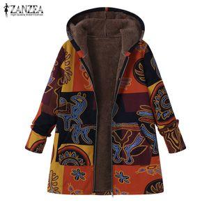 Zanzea Damen Jacke mit Kapuze Mantel Winterjacken Kapuzenmantel Groesse: L, Farbe: Gelb