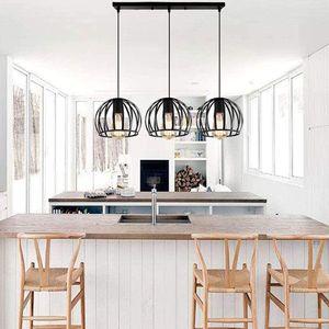 3er set Pendelleuchte Hängeleuchte Deckenleuchte Wassermelonen-Kronleuchter Esszimmerlampe Wohnzimmer Lampe Schlafzimmer (Ohne Glühbirne)