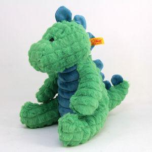 Steiff 087813 Spott Stegosaurus | 28 cm grün/petrol sitzend Dinosaurier