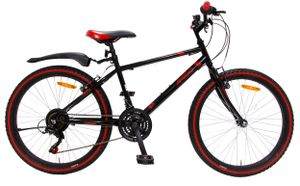 AMIGO Hardtail Mountainbike Rock 26 Zoll 42 cm Junior 18G Felgenbremse Schwarz/Rot