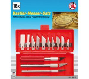 KRAFTMANN 50613 Bastlermesser-Satz 16-tlg.
