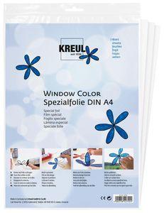 "KREUL Spezialfolie Hobby Line ""Glas Design"" DIN A4 glasklar 0,075 mm 3 Folien"