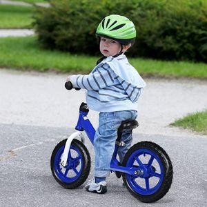 COSTWAY Kinder Laufrad mit verstellbarem Sitz, Balance Fahrrad ohne Pedale, Balance Bike, Kinderlaufrad, Lauflernrad für Kleinkinder und Kinder im Alter von 3 - 5 Jahren Blau