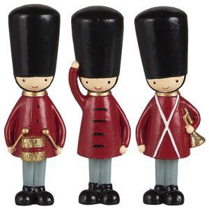 Ib Laursen 3 er Set stehende Gardisten 10,8 cm Advents- Weihnachtsdekoration