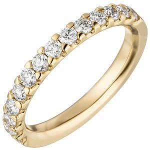 Damen Ring 585 Gold Gelbgold 14 Diamanten Brillanten 0,56ct. Diamantring