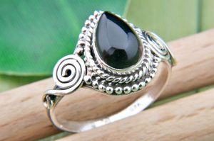 Onyx Ring 925 Silber Sterlingsilber Damenring schwarz (MRI 73-03),  Ringgröße:56 mm / Ø 17.8 mm
