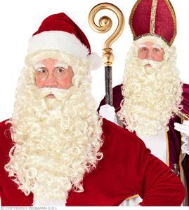 Weihnachtsmann, Saint Nikolaus Perücke mit Bart, Schnurrbart, Augenbrauen
