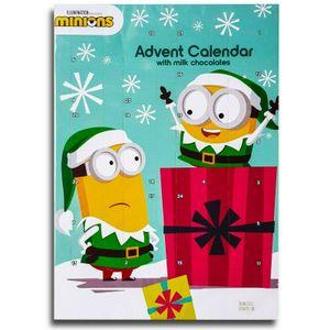 Minions Christmas Adventskalender mit Schokolade, Schoko Weihnachts Kalender
