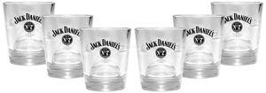 Jack Daniels Old No7 Whiskey Tumbler Glas 2/4cl geeicht - 6er Set